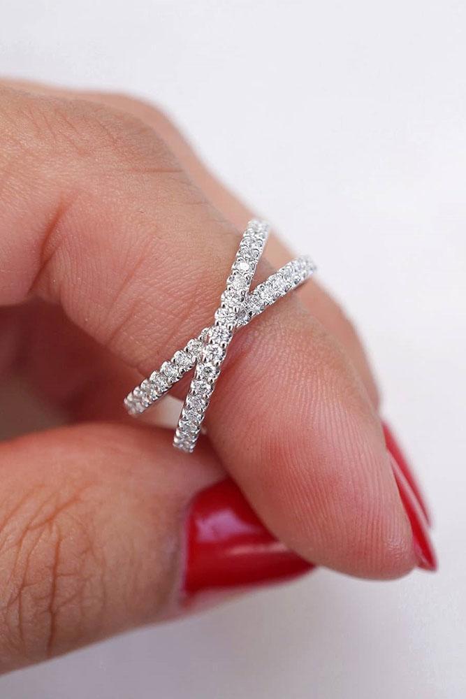 bridal sets unique wedding rings white gold wedding bands eternity diamond ring