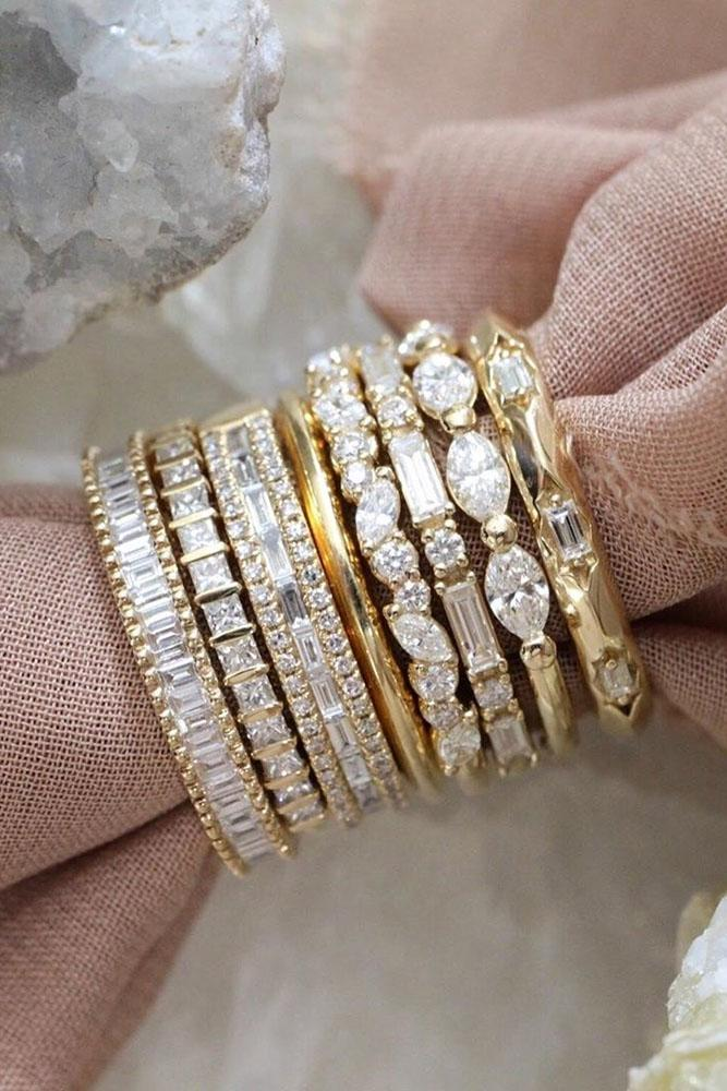 diamond wedding rings rose gold wedding bands stackable bands stackablerings
