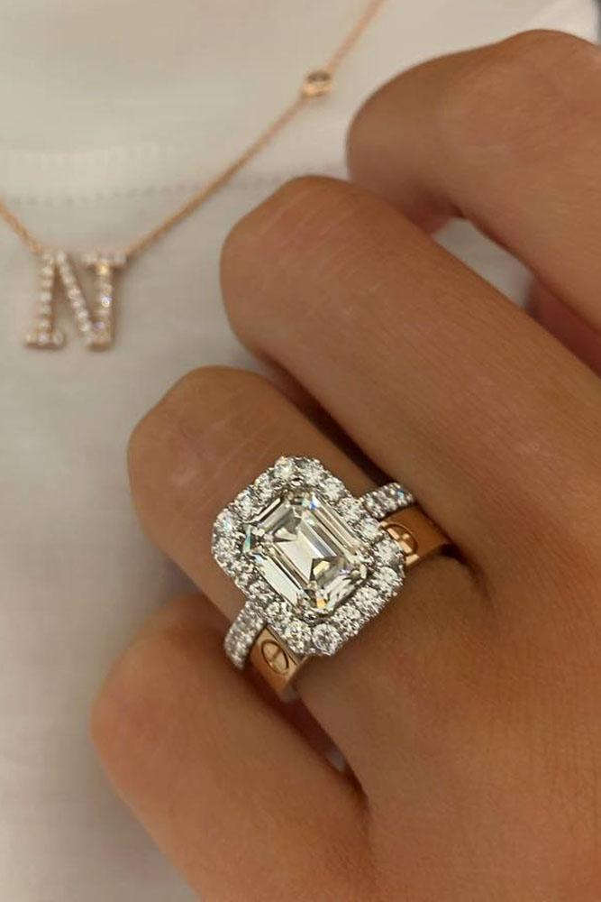 diamond wedding rings two tone wedding ring sets bridal sets