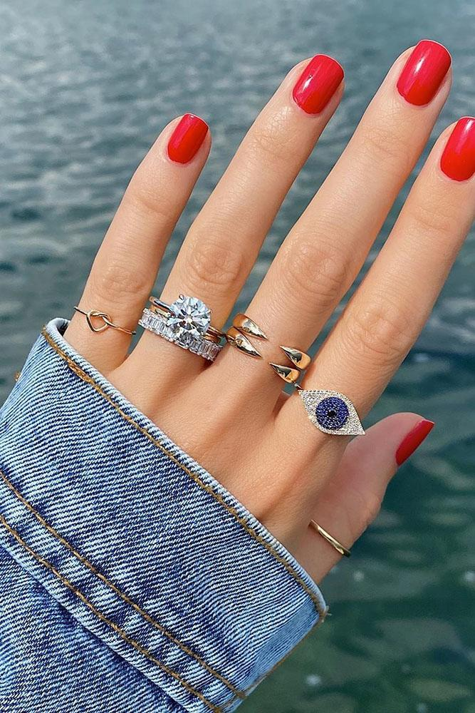 how to mix and match jewelry engagement rings unique rings sapphire rings