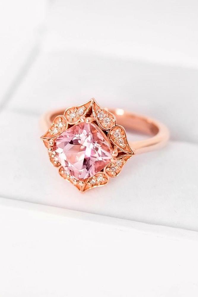 morganite engagement rings rose gold engagement rings vintage rings