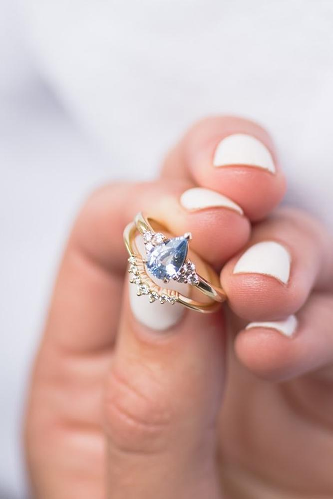 pear shaped engagement rings rose gold rings unique ring bridal sets