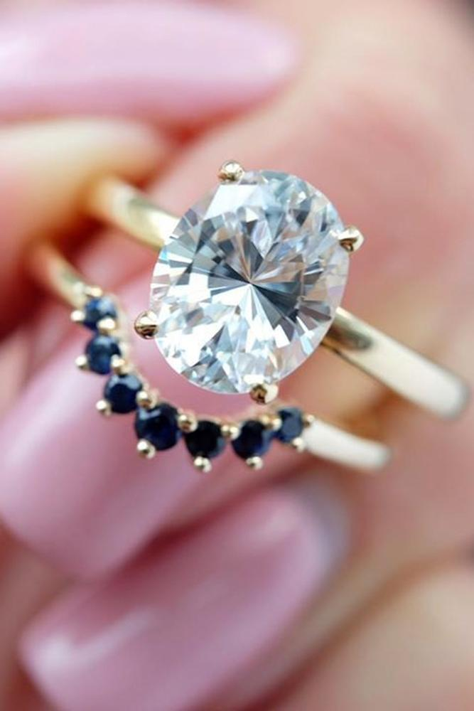 sapphire engagement rings oval cut rings wedding ring