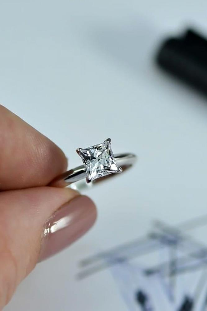 simple engagement rings white gold engagement rings princess cut engagement rings