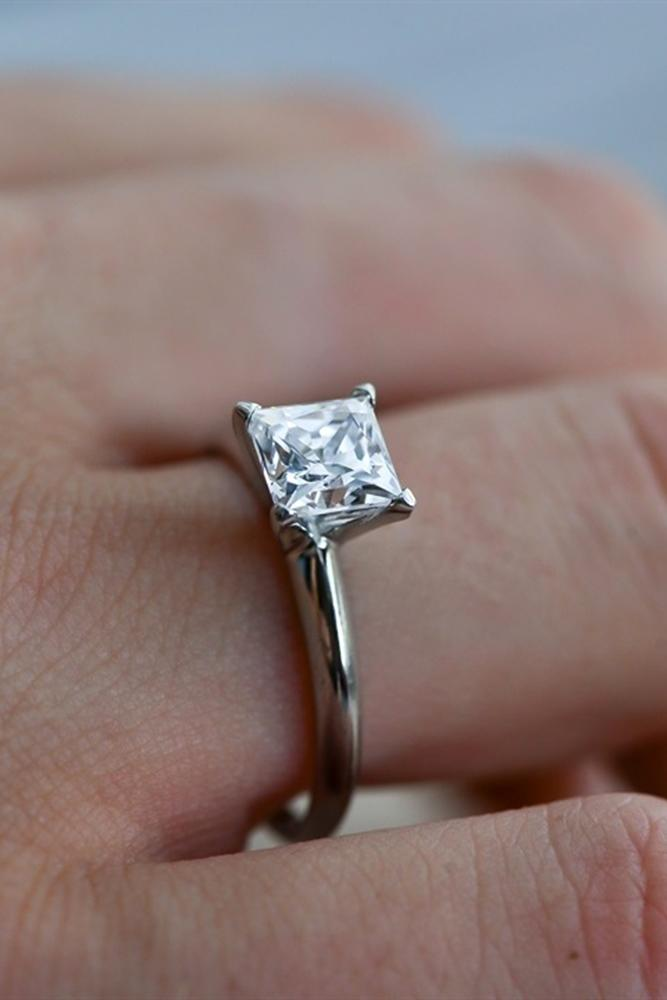 simple engagement rings white gold engagement rings princess cut rings