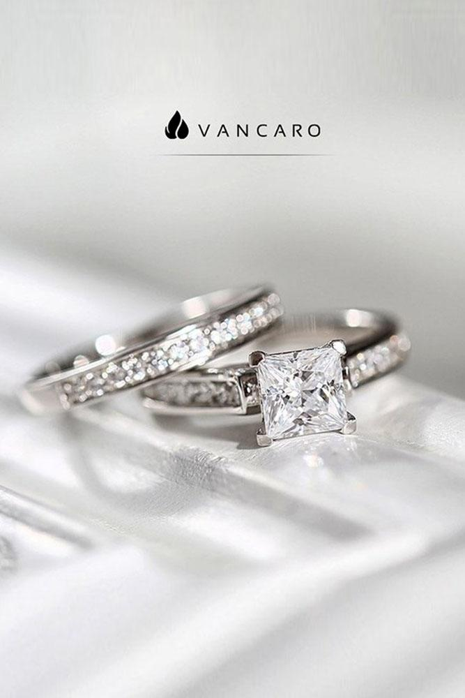 solitaire engagement rings princess cut engagement rings white gold rings