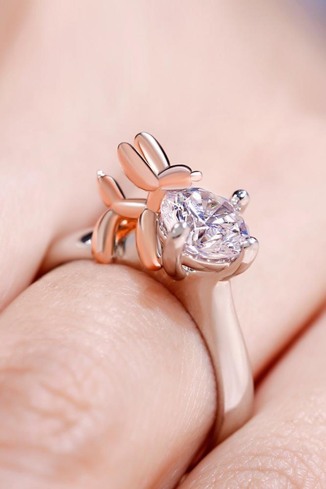 unique engagemen rings two tone engagement rings animal engagement rings best ring