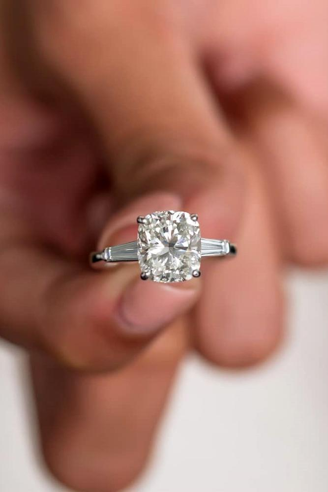 diamond engagement rings white gold rings cushion cut ring solitaire ring