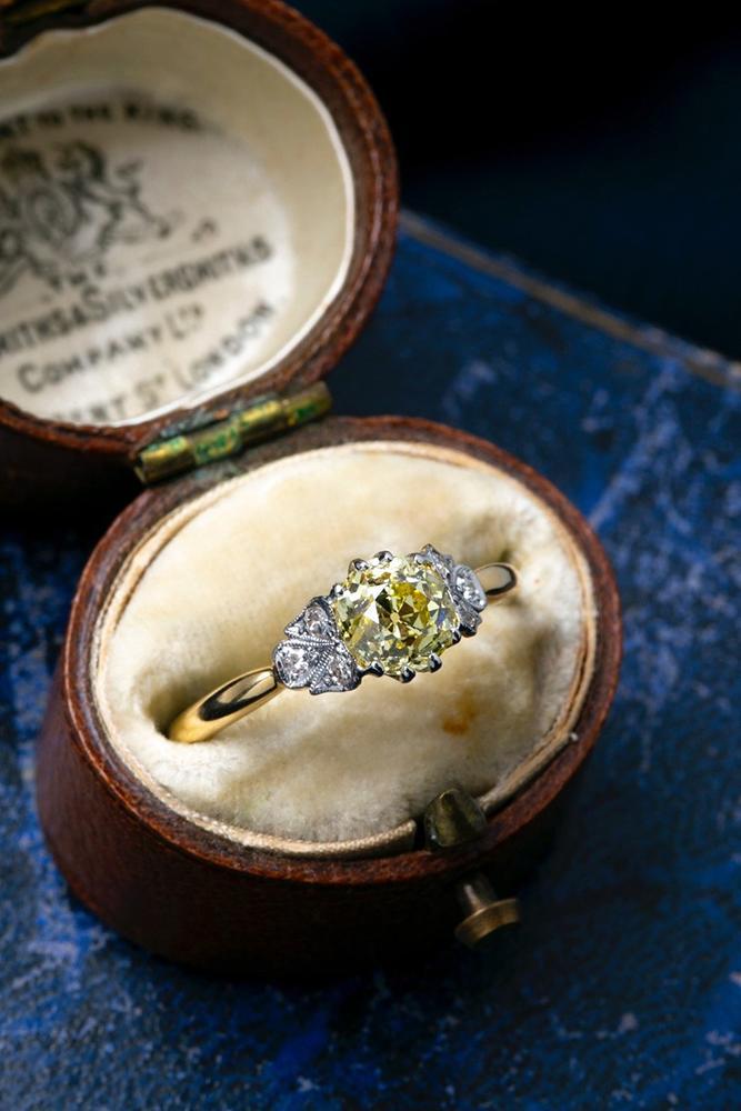 diamond engagement rings yellow gold engagement rings lemon diamond ring