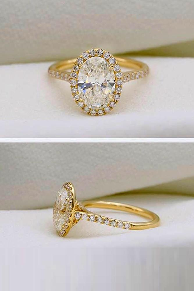 diamond engagement rings yellow gold engagement rings oval cut ring