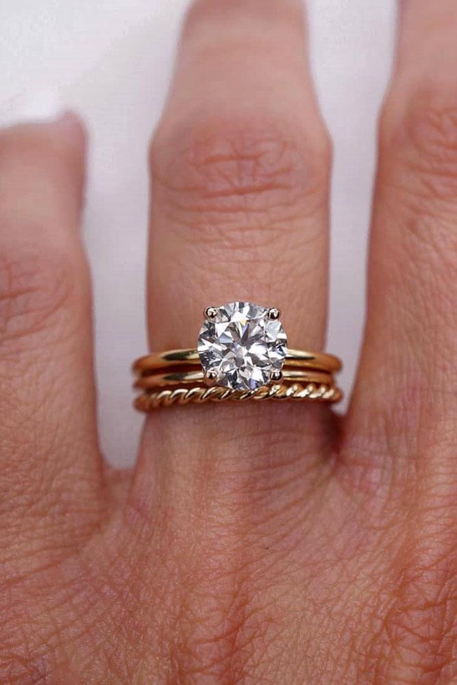 diamond wedding rings rose gold wedding rings round ring classic ring