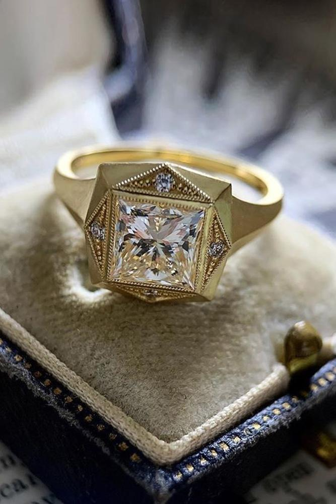 jewelry care tips yellow gold rings vintage rings princess cut rings