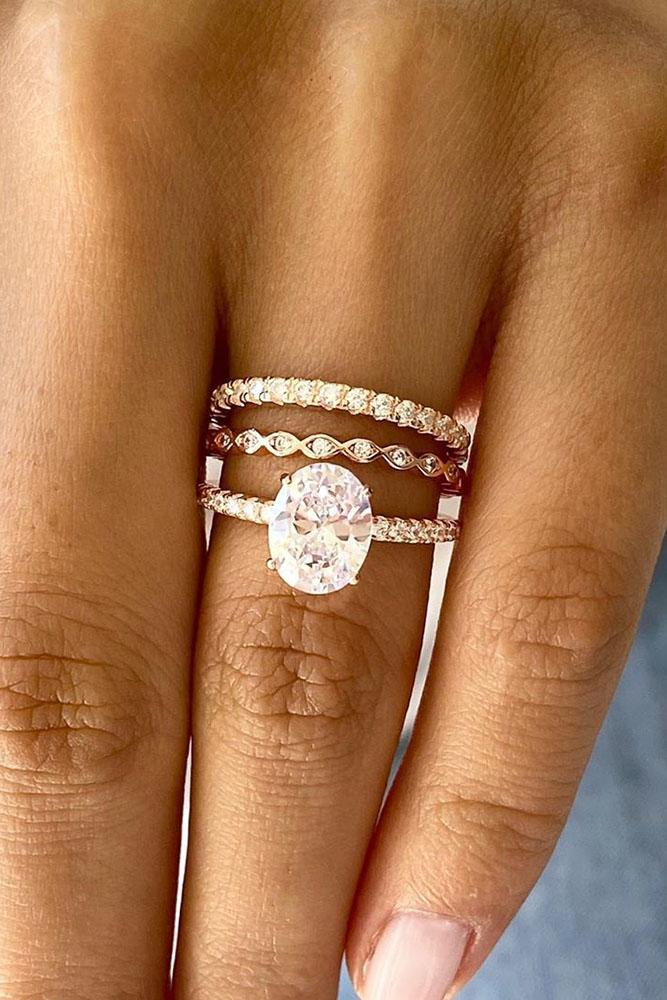 oval engagement rings rose gold engagement rings solitaire ring bridal sets