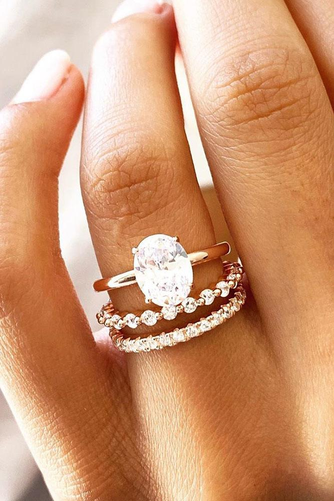oval engagement rings rose gold engagement rings solitaire ring wedding ring