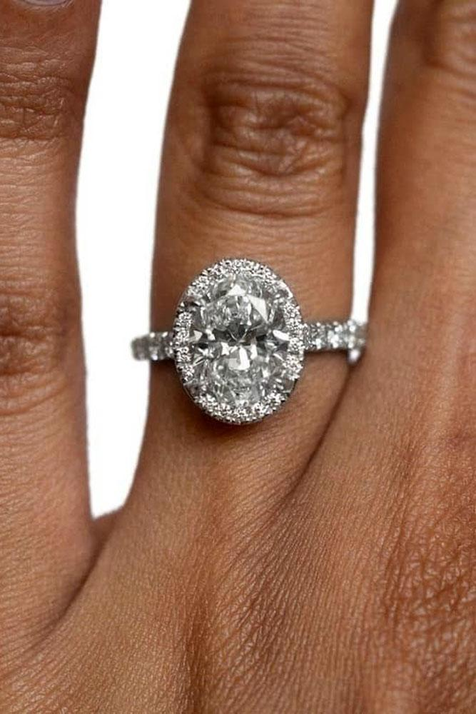 oval engagement rings white gold engagement rings halo ring