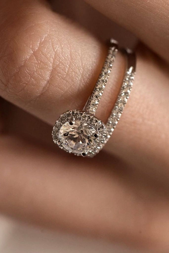 real vs fake diamonds gold engagement rings halo wedding ring