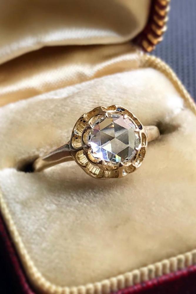 real vs fake diamonds rose gold rings round cut ring