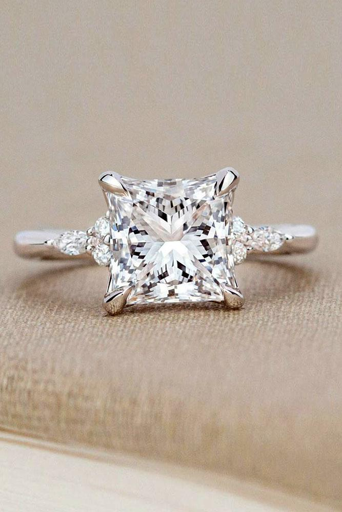 real vs fake diamonds white gold engagement rings princess cut diamond ring