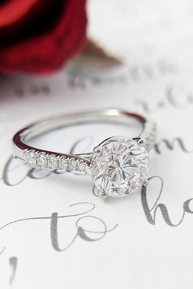 real vs fake diamonds white gold engagement rings round cut diamond ring