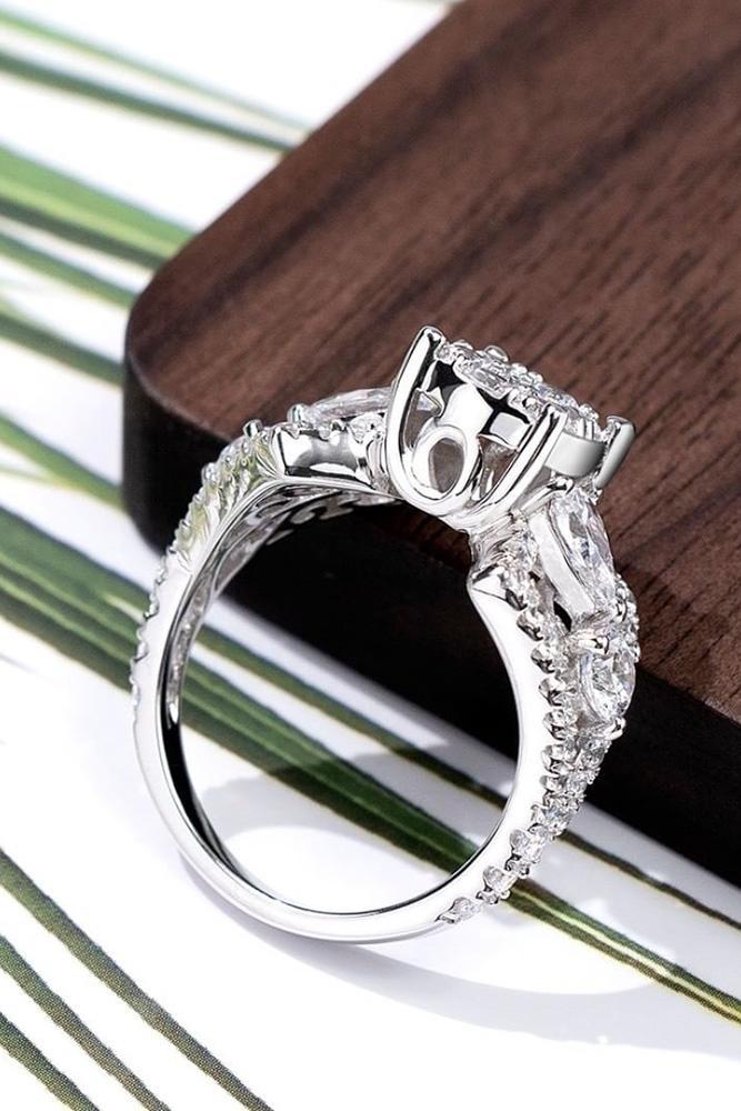real vs fake diamonds white gold rings round cut ring