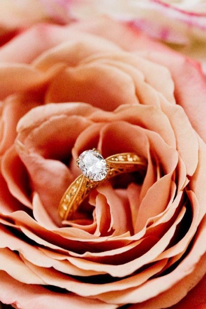 rose gold engagement rings kirk kara rings beautiful vintage details1