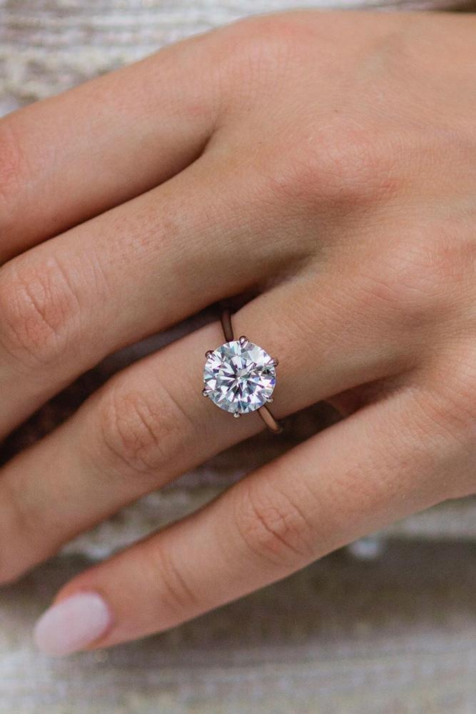 round engagement rings simple engagement rings white gold engagement ring