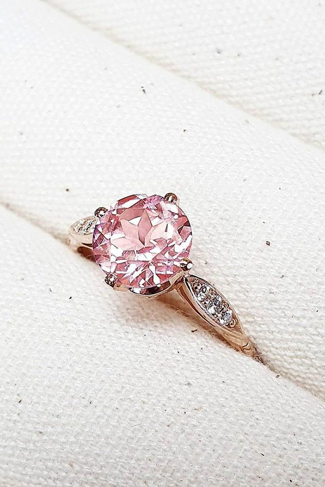 sapphire engagement rings rose gold ring round cut ring