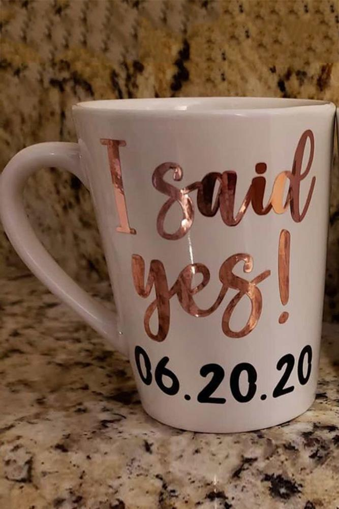 save the date ideas save the proposal date engagement photos cups