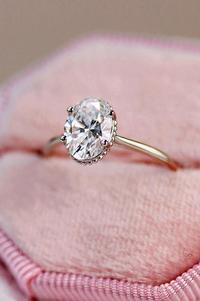 solitaire engagement rings white gold ring simple ring oval cut ring