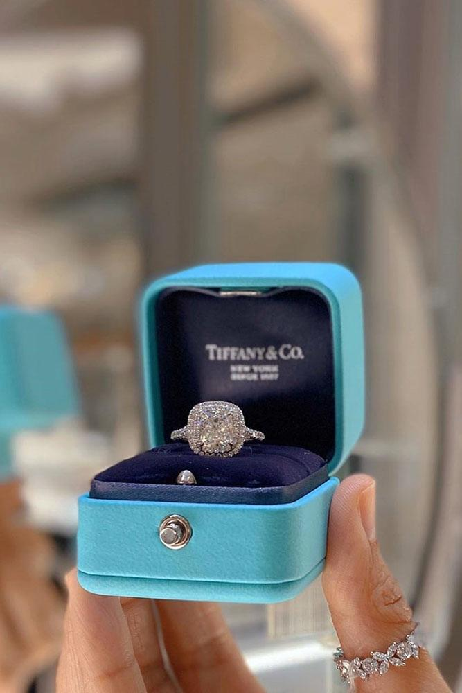 tiffany engagement rings white gold ring halo ring