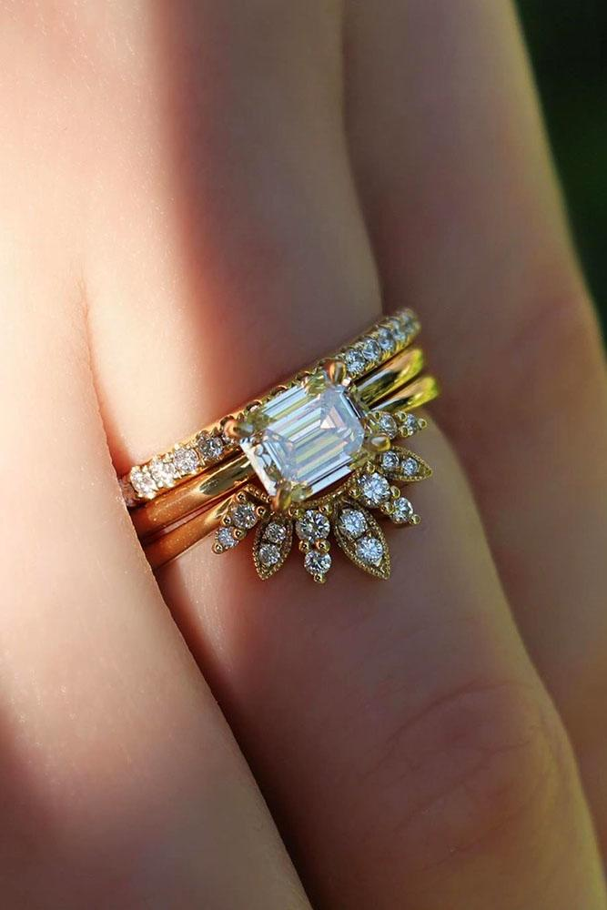 unique engagement rings yellow gold engagement ring best ring