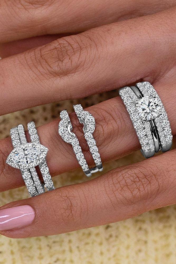 unique wedding rings unique white gold wedding rings