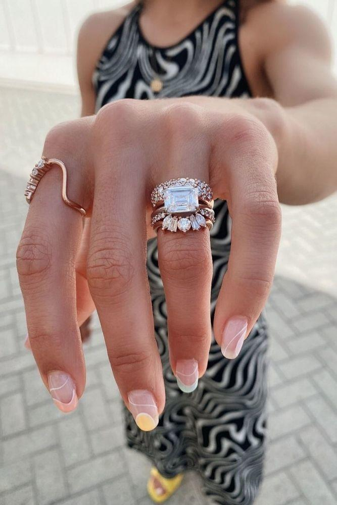 unique wedding rings wedding rings in rose gold1
