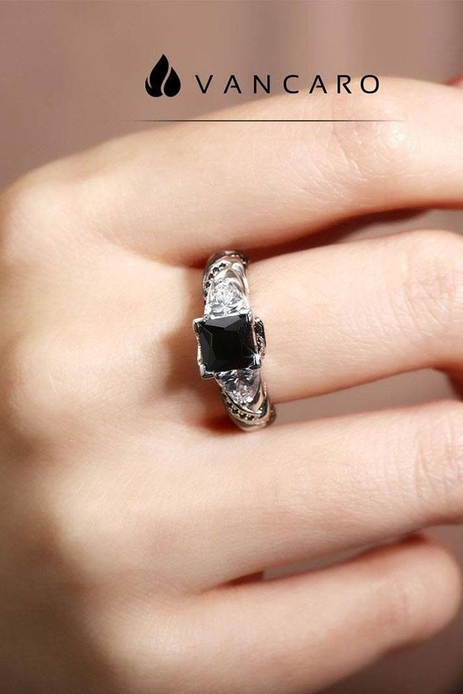 black diamond engagement rings unique ring