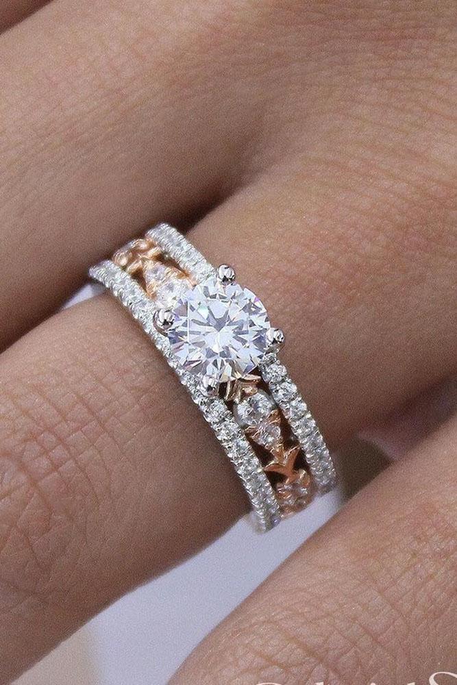 diamond wedding rings rose gold wedding ring sets bridal sets