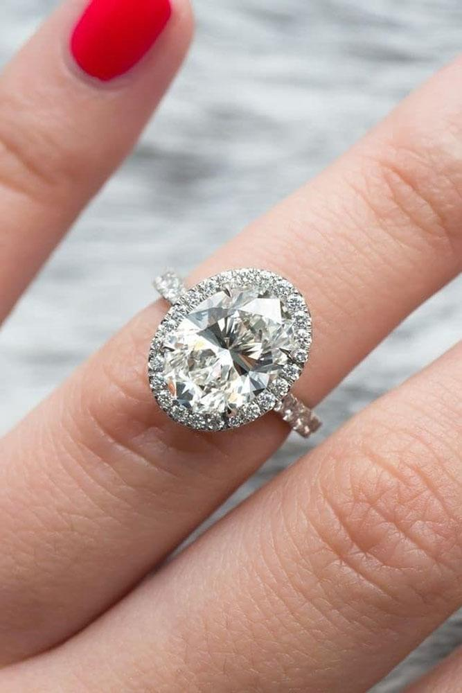 halo engagement rings white gold engagement rings oval cut ring