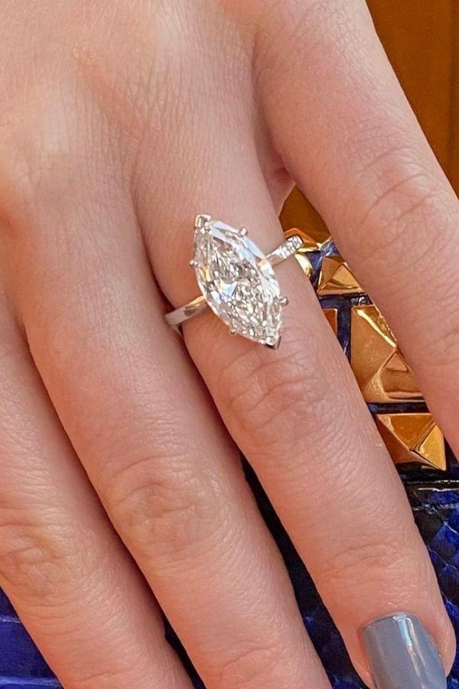 marquise diamond stunning white gold engagement rings