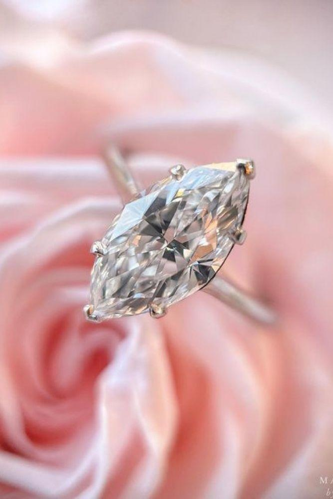 marquise diamond white gold engagement rings