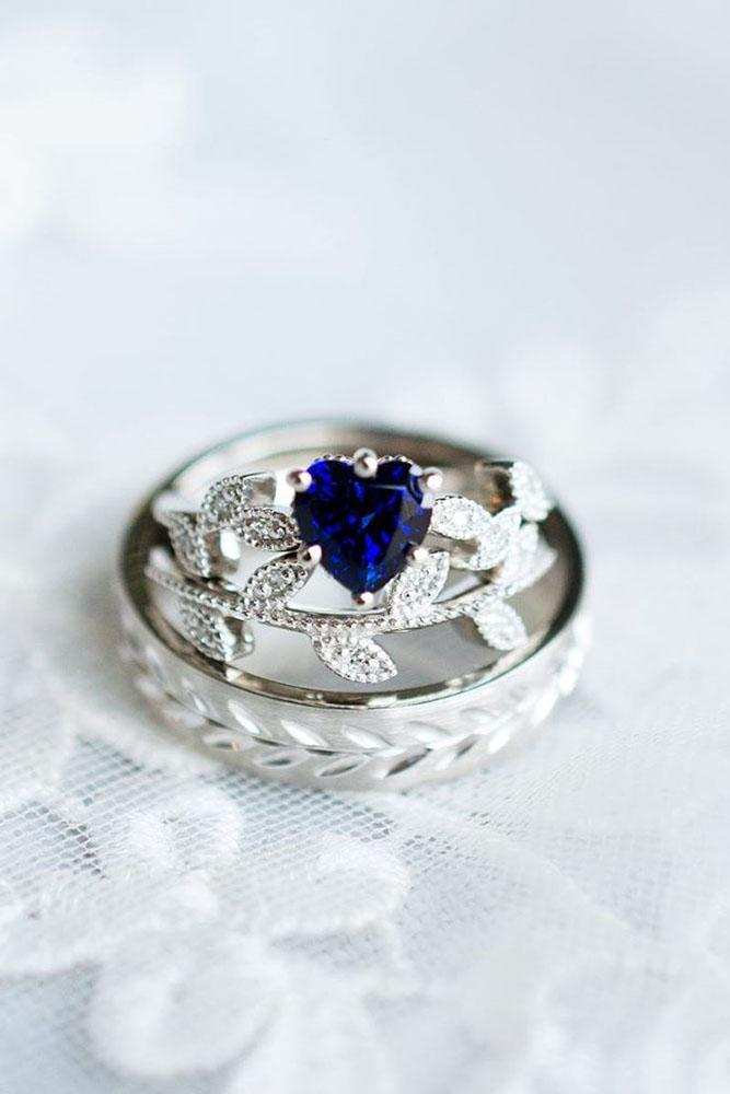 sapphire engagement rings white gold engagement ring unique ring
