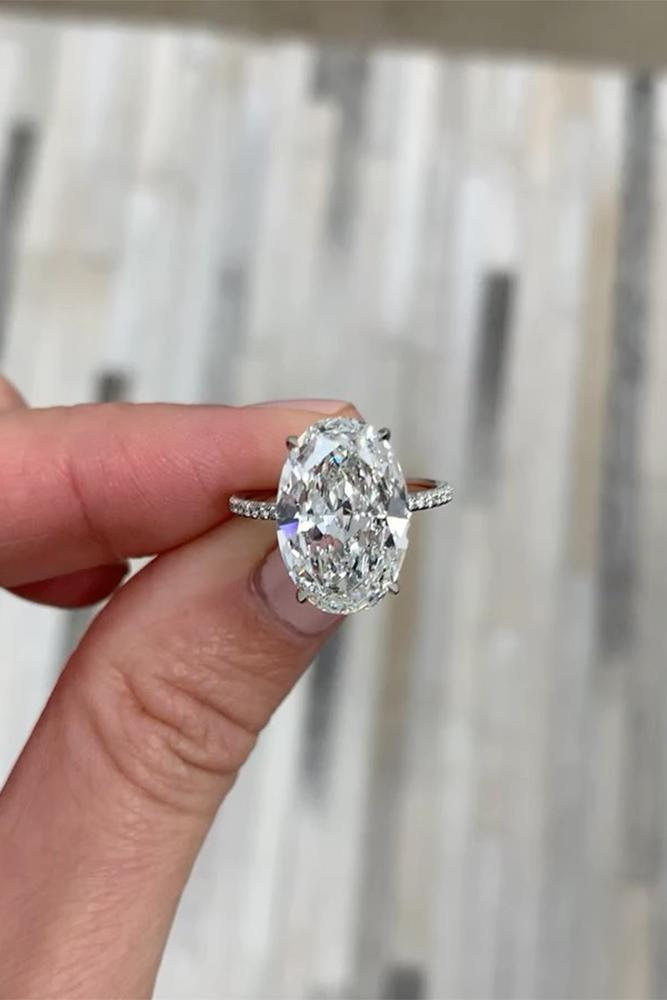 solitaire engagement rings oval cut rings