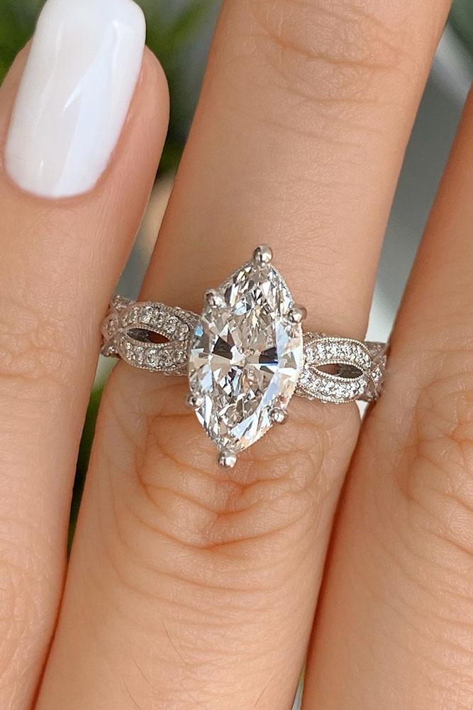 solitaire engagement rings white gold engagement rings marquise cut engagement rings