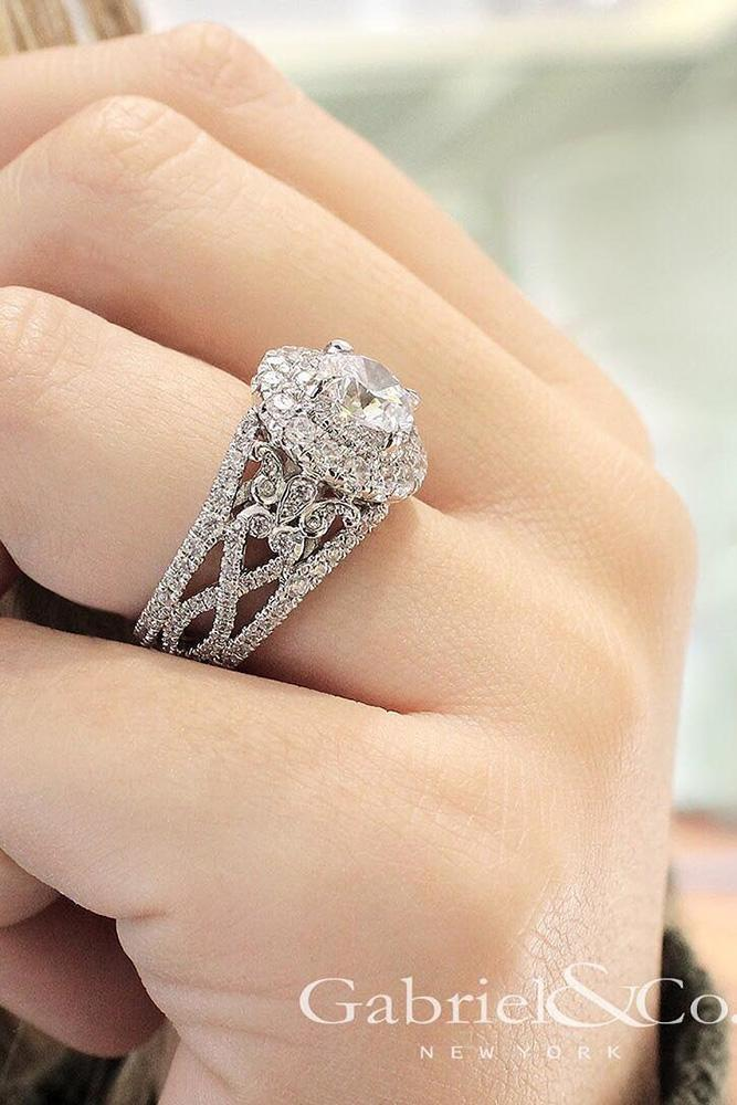 unique engagement rings round cut rings rings white gold