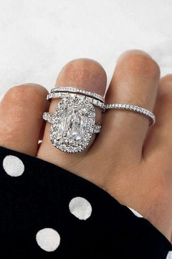 wedding rings set henri daussi ring sets