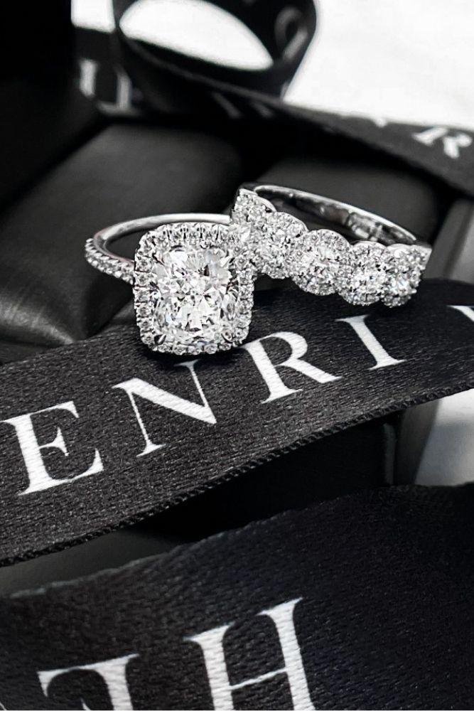 wedding rings set henri daussi ring sets1