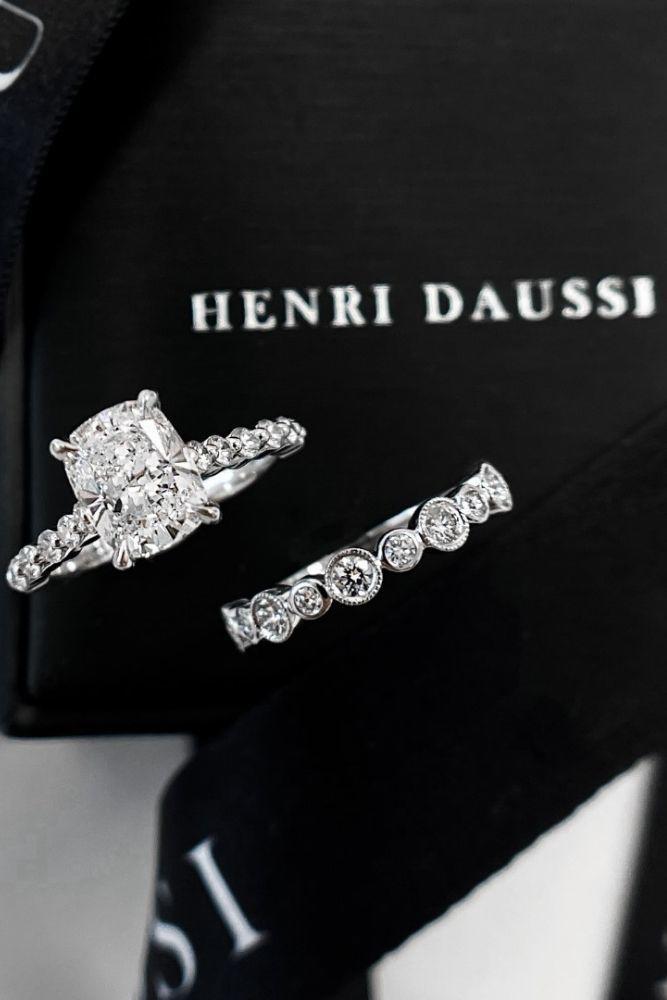 wedding rings set henri daussi ring sets2