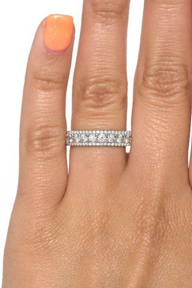 diamond engagement rings diamond wedding bands in white gold1