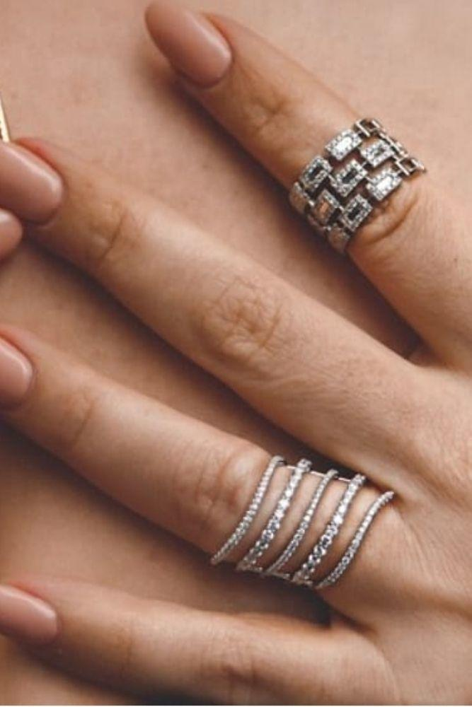 diamond engagement rings diamond wedding bands in white gold3