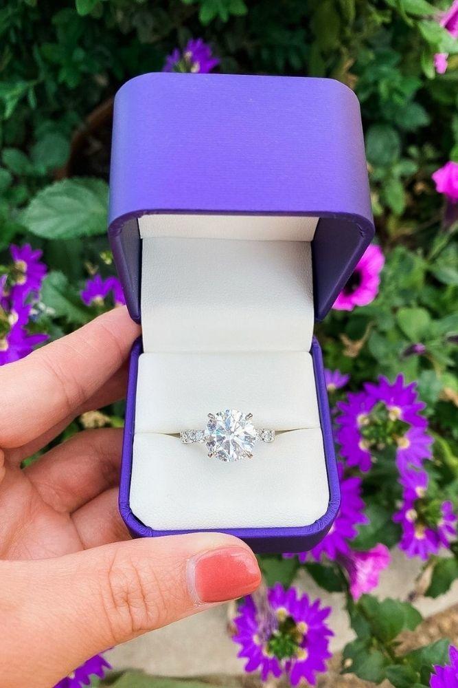 diamond engagement rings stunning round diamond engagement rings