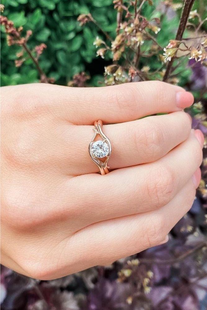 diamond engagement rings stunning round diamond engagement rings1