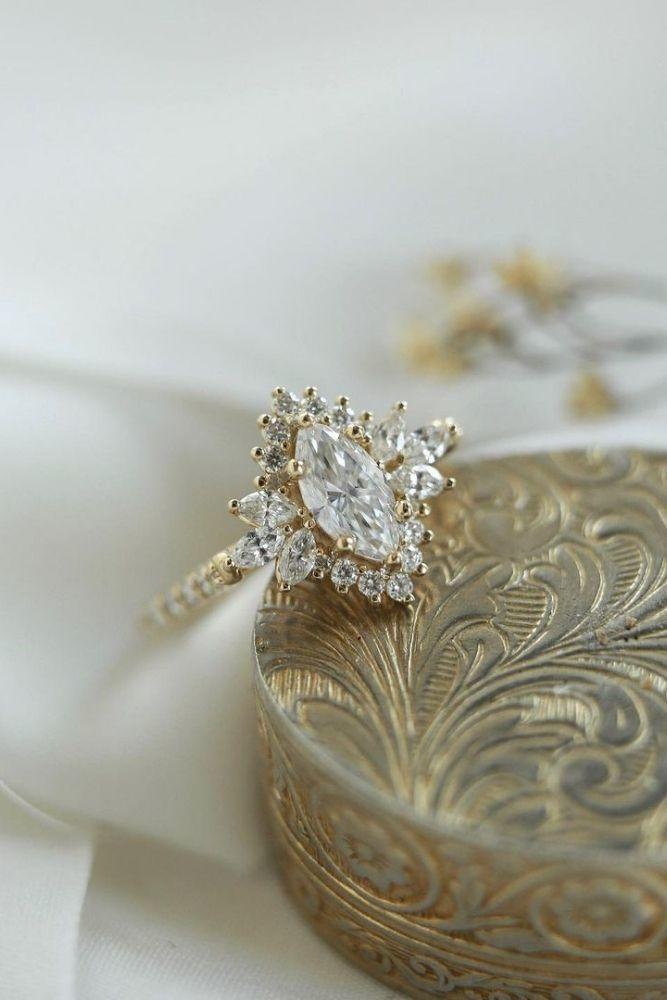 diamond engagement rings stylish marquise cut engagement rings